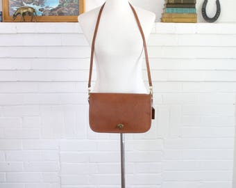 Vintage Coach Bag // Coach Convertible Clutch British Tan  // Messenger Bag Purse Handbag
