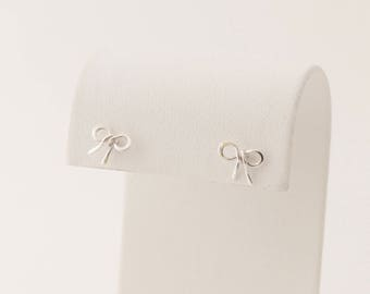 Tiny Bow Earrings, Sterling Silver, Bow Stud Earrings, Bow Jewelry, Bridesmaid Gift, For Her, Gift Idea, Flower Girl Gift, BeadXS