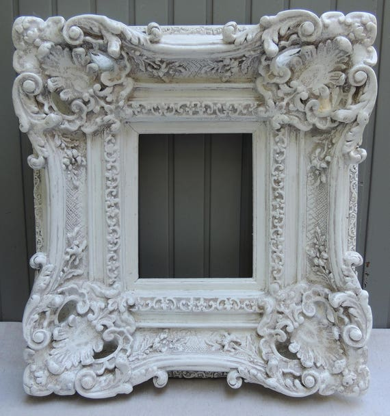 8x10 White Picture Frames, Vintage Ornate Picture Frame, Floral ...