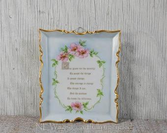 Serenity prayer wall plaque, serenity prayer wall art, ceramic wall plaque