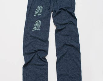 Owl Pants, Yoga Pants, Lounge Pants, Comfy Pants, S,M,L,XL