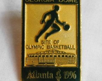Original  Atlanta 1996 Olympic Games Georgia Dome Basketball Pin   dr47