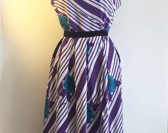 Vintage 50s Rose Print Dress