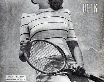 1940s Vintage Knitting Patterns Teen Girls or Petites Sweaters Cardigans Dress Twin Set Skirt Suit Sun-Glo Original Book Series 76
