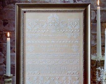 Cross Stitch Pattern | WEDDING SAMPLER | Carol Emmer | Counted Cross Stitch Pattern | Chart | fam