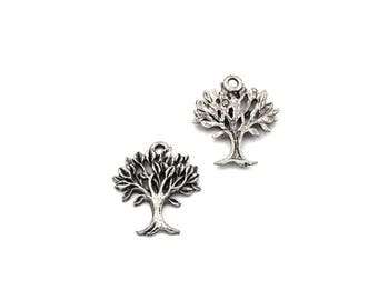 Tree Of Life Charm Silver Pewter Charm -1