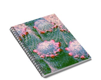 Cute Spiral Notebook, Cactus Journal, Cactus Notebook, Memory Journal, Spiral Notepad, Lined Notebook, Journal Notebook