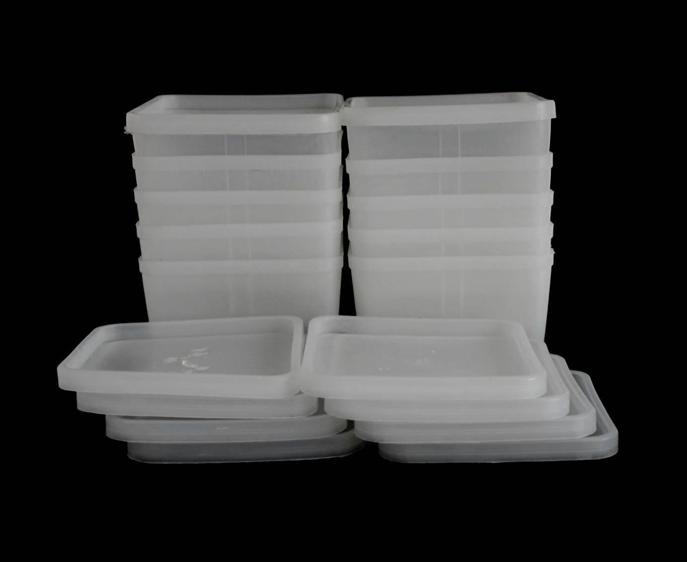 Square Plastic Freezer Containers Amp Lids Vintage 1970s Kitchen