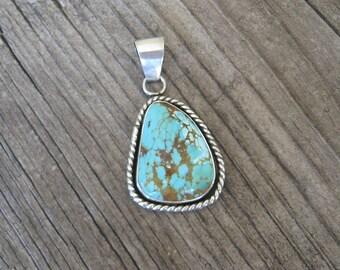 Turquoise Pendant, Kingman Turquoise,  Turquoise Pendant Necklace, Blue Turquoise Necklace, Turquoise Pendants, GemSalad Jewlery