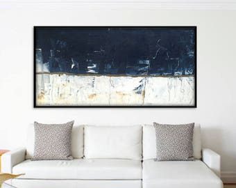 Giant Stretched 72x36 Inch Large Abstract Art. Original Abstract Painting. Large Abstract Wall Painting. XL Abstract Painting Large Wall Art