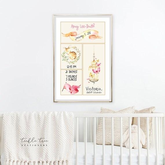 Art Print - Birth Poster Enchanted Woodland (W00018)