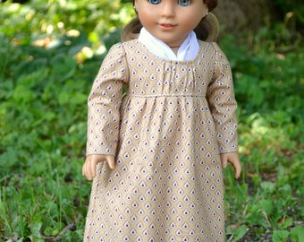 Doll Dress Regency Day Dress for American Girl 18 inch doll Caroline Josephina