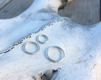 Conch Cartilage Hoop - Helix Cartilage Hoop - Tragus Cartilage Hoop - Rook Cartilage Hoop - Lip Ring - Nipple Ring Hoop - Nose Ring Piercing