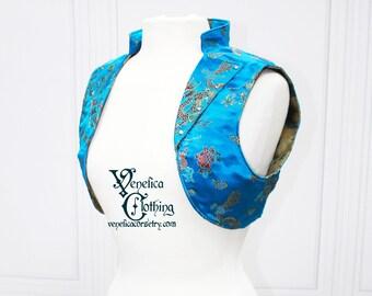 Firefly Kaylee Inspired Jacket -- Teal Dragon Brocade -- Custom Made