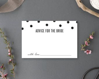 Instant Download - Advice for the Bride Card - Chelsea Collection