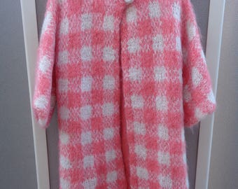 Vintage Knitting Needle Wool and Mohair Coat