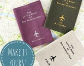 Personalised Passport Cover The Little Book of Big Adventures Travel Gift Idea Monogram Passport Holder Travel Accessory Personalised Gift