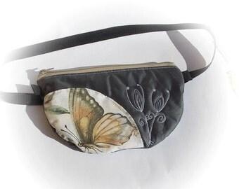 Belt bag/belt pack/hip bag/ fanny pack/ waist bag/ waist purse/woman bag/Boho bag/ Black lotus bag