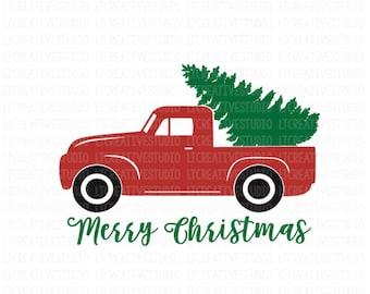 Christmas Truck SVG,Christmas Tree Truck svg, Christmas SVG, Merry Christmas SVG, Cricut Cut Files, Sihouette Cut Files