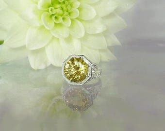 November Birthstone Ring, Citrine Ring, Large Gemstone Ring, Citrine Silver Ring, Antique Style Ring, Unique Gemstone Ring, Gemstone Ring
