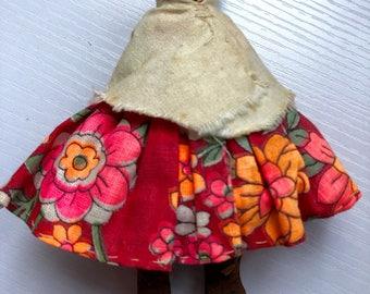 Carved Tarahumara Mexican Doll