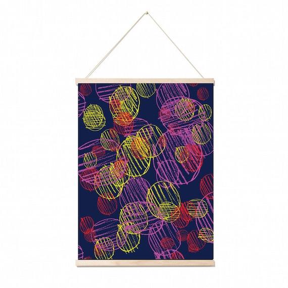 circles wall art print .A3Poster .Illustration.wall decor . gift