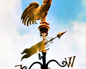 French Country, Rooster Art, Food Photography, Kitchen Art, French Decor, Weathervane Print, French Provincial,Rooster Weathervane,Farmhouse