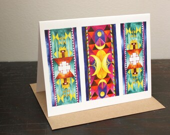 Magic Carpets II Greeting Card: blank card A2