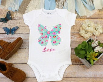 Butterfly Onesie®, Baby Clothes, Nature Onesie, Love Bodysuit, Girl Baby Clothes, Boho Baby, Baby Shower Gift, Cute Baby Clothes