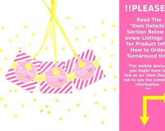 Pink Lemonade Favor Tags - Lemonade Stand Thank You Tags - Pink Lemonade Gift Tags - Digital & Printed