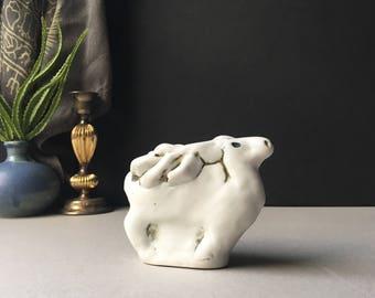 Vintage Pentik Finland by Henrik Allert Reindeer Moose Ceramic Figurine