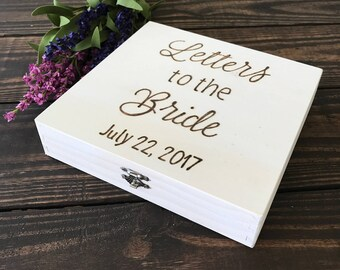 Letters to the Bride, Bride box, Brides keepsake box with wedding date