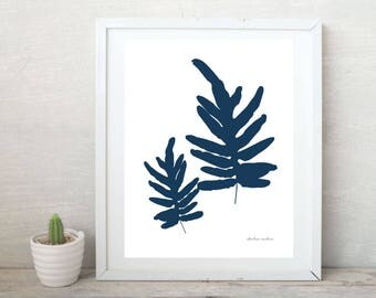 Blue Star Fern Botanical Print - Digital Download