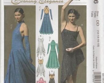 Dance Bodysuit and Dress Pattern McCalls 5136 Sizes 12-18 Uncut