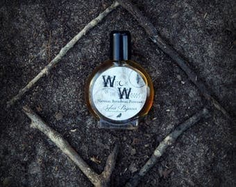 Natural perfume organic - WITCH of the WOODS - smokey earthy dark mysterious witchcraft pagan magic  - choose size