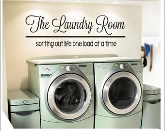 Laundry Room Vinyl Simple Laundry Room Decals  Etsy Decorating Design
