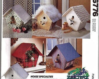 Bird House Specialties / Original McCall's Crafts Uncut Sewing Pattern 6776