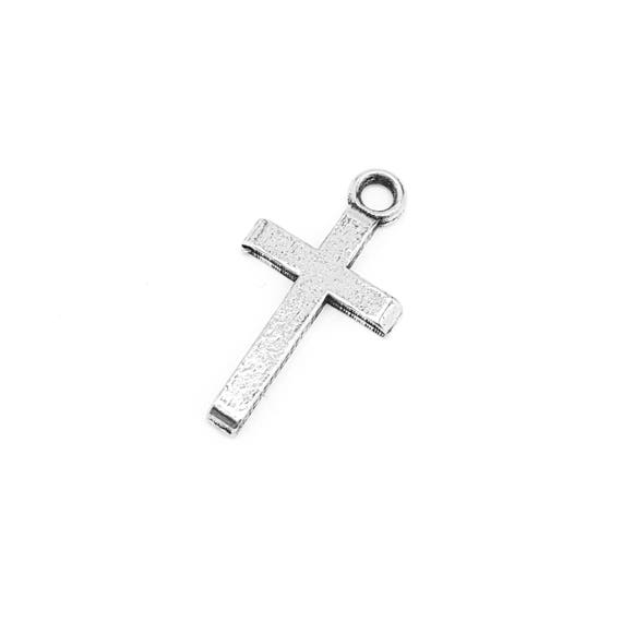 Simple Cross Charm - Add a Charm to a Custom Charm Bracelets, Necklaces or Key Chains -  Nickel Free Charms