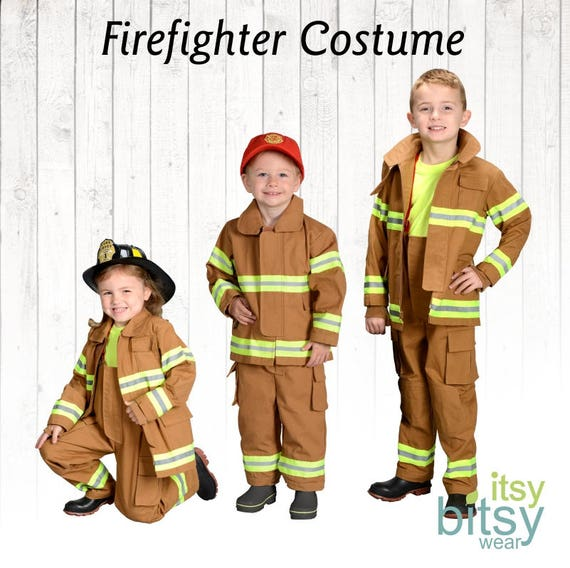 Halloween Costume Kids Firefighter Costume Personalized