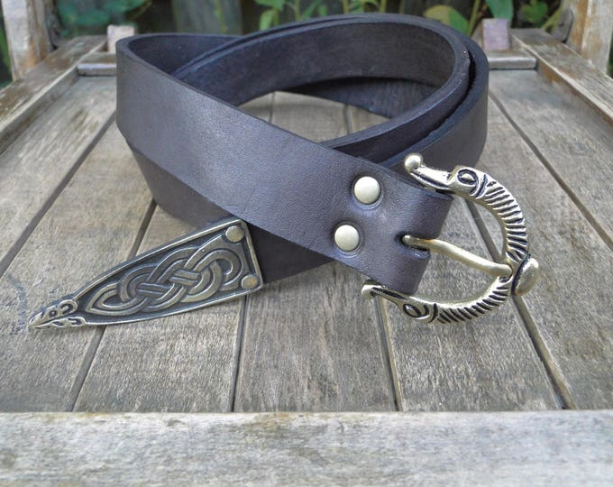 Viking Leather Belt, Deluxe - Choose Your Size & Color