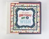 "Birthday Scrapbook Mini Album Kit or Premade Album 6x6"" Celebration or Birthday Boy"