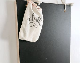 Hanging Chalkboard - Rustic Chalkboard Sign - Blank Kitchen Chalkboard - Message Board - Rustic Decor - Cottage Decor - Wedding Sign