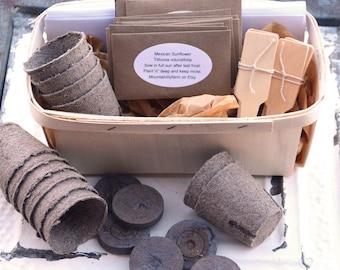 Butterfly Garden Gift Set, Butterfly Flower Seeds, Heirloom Garden Kit, DIY  Gardening,