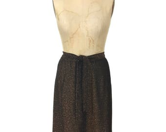 vintage 1970's copper lurex skirt / Craig Byron / deadstock / metallic shimmery / women's vintage skirt / tag size 12