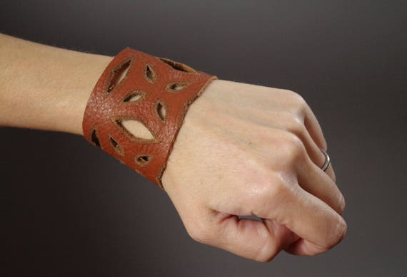 Rustic Leather Cuff Bracelet - Leather Cuff Bracelet - Leather Cuff - Leather Accessories - Handmade Leather Cuff