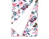 Baby Blanket Victoria Floral. The Cloud Blanket. Faux Fur Baby Blanket. Minky Baby Blanket. Pink Floral Baby Blanket. Purple Floral Blanket.