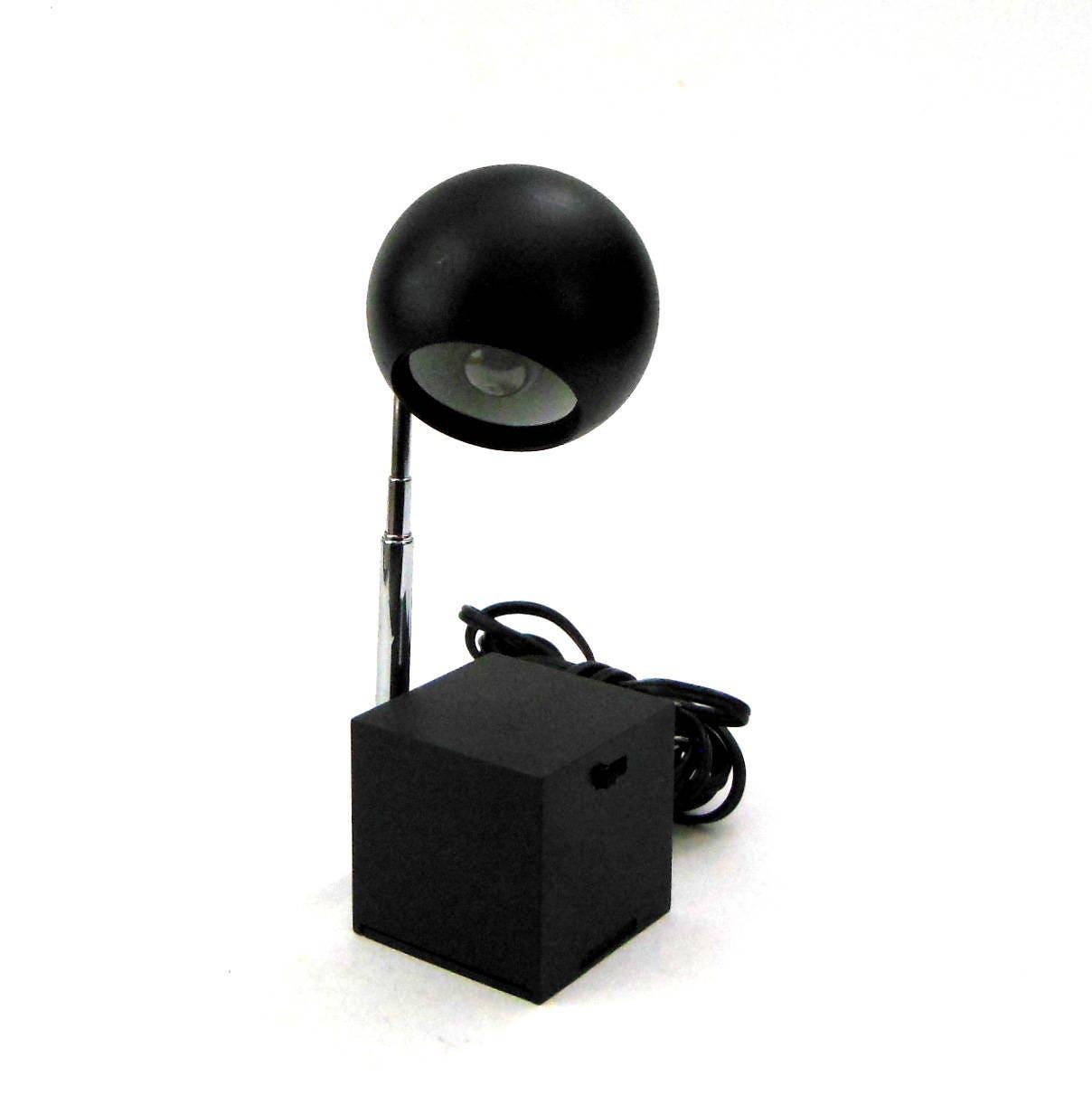 chrome lamp task light litecraft office studio retro styled itm eyeball desk table