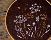 Wildflower embroidery, Hand embroidery patterns, Digital download, Hand embroidery art by NaiveNeedle