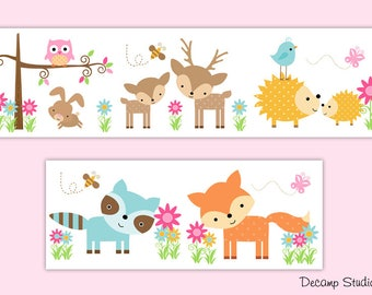 Nursery Wallpaper Border Mural Decals Wall Art By