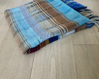 Handwoven Wool Plaid Blanket No. 5.3